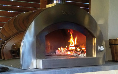 Sapore Wood Ovens Sapore Grande With Heavy Duty Open Stand